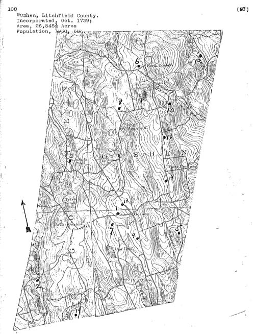 Goshen, Connecticut Cemetery Map